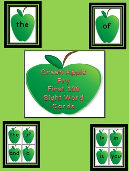 Green Apple Fry First 100 Sight Word Flashcards and Posters