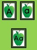 Green Apple Full Page Alphabet Letter Posters Uppercase and Lowercase