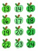 Green Apple Labels with numbers
