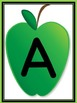 Green Apple Letter Flashcards and Posters Bundle