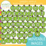 Green Apple Letter Tile Clip Art {MOVEABLE IMAGES}