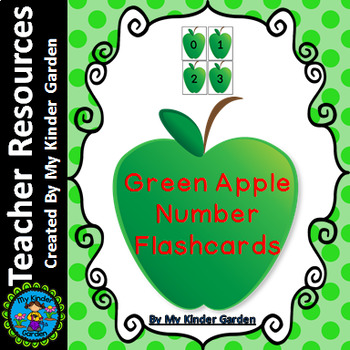 Green Apple Number Flashcards 0-100