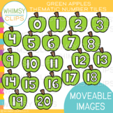 Green Apple Number Tile Clip Art {MOVEABLE IMAGES}