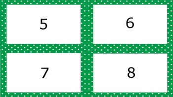 Green Apple Spotty Times Tables Flash Cards Answers