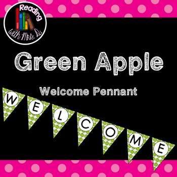 Green Apple Welcome Banner Pennant Bunting