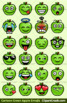 Green Apples Emoji Clipart Faces / Green Apples Fruit Emojis Emotions