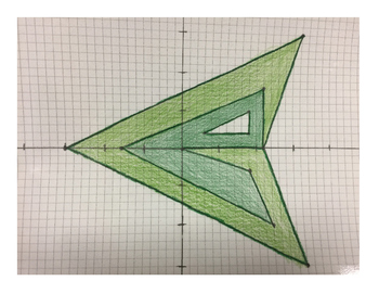 Green Arrow Coordinate Drawing
