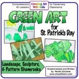 Art Lesson Bundle St. Patrick's Day Green Art