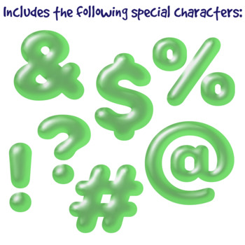 Green Balloon Clip Art Alphabet Letters & Frames
