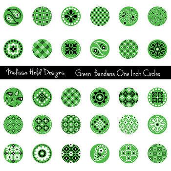 Green Bandana Circles