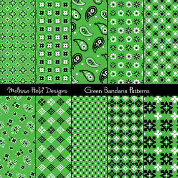 Bandana Patterns: Green