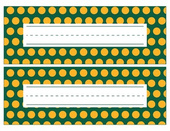 Green Bay Packers Inspired Green and Gold Editable Name Plates/Word Wall