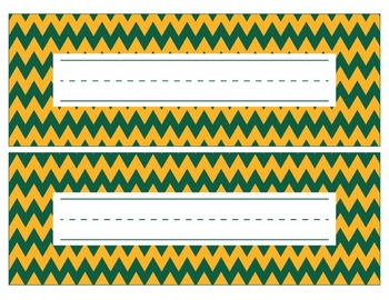 Green Bay Packers Inspired Green and Gold Editable Name Pl