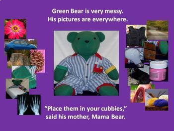 Green Bear Learns His ABCs  interactive Alphabet Power Point