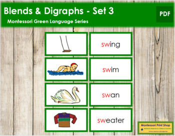 Green: Blends and Digraphs - Set #3