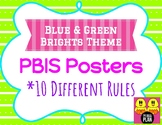 Green & Blue Brights Theme PBIS Posters
