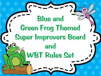 Frog Themed Super Improver Behavior Management and Whole B