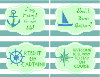 Green & Blue Labels, Quotes, Awards - 15pgs - dogs, nautical, butterfly, flower