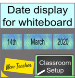 Green Blue Natural Date to Display on whiteboard