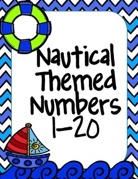 Green & Blue Nautical Number Line