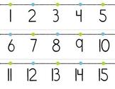 Green & Blue Number Line 1-100