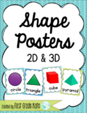 Green & Blue Shape Posters for Classroom Decor