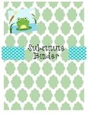 Green & Blue Sub Folder- Frog