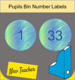 Green Blue natural pupil book bin numbers