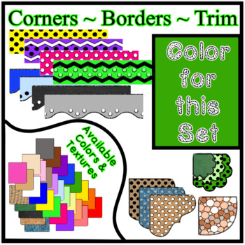 Green Borders Trim Corners * Create Your Own Dream Classroom / Daycare *