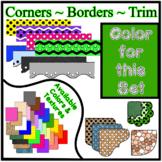 Green Borders Trim Corners * Create Your Own Dream Classro