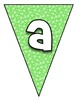 Pennant Bulletin Board Letters - Green Bubble (LARGE)