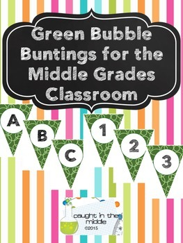 Green Bubbles Bunting