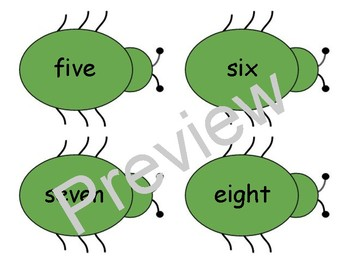 Green Bug Number Games and Activities