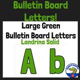 Bulletin Board Letters Green