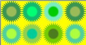 Green Bursts with Yellow Background - Scrapbook Paper