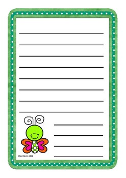 Green Butterfly Worksheets