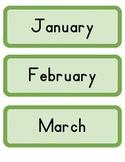 Green Calendar cards