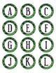 Green Camouflage Dot Labels