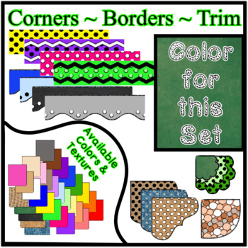 Green Chalkboard Borders Trim Corners *Create Your Own Dream Classroom/Daycare*