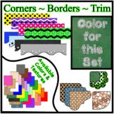 Green Chalkboard Borders Trim Corners *Create Your Own Dre
