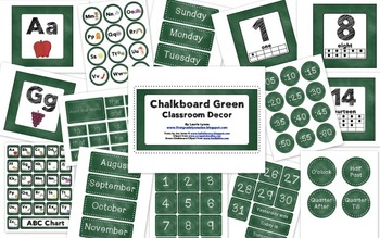 Green Chalkboard Classroom Decor