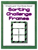 Green Chalkboard Sorting Mat Frames * Create Your Own Dream Classroom Daycare