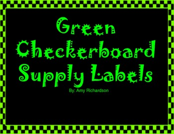 Green Checkerboard Supply Labels