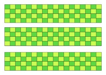 Green Checks Classroom Bulletin Board Display Border
