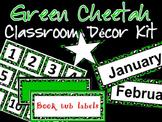 Green Cheetah Theme Classroom Decor Kit