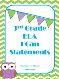 Green Chevron 3rd Grade ELA Common Core I Can Statments
