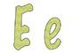 Green Chevron Alphabet Printable