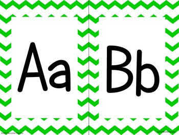 Green Chevron Alphabet (large)