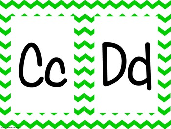 Green Chevron Alphabet (large)