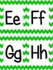 Green Chevron Alphabet (small)